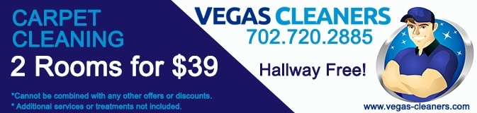 Carpet Cleaning Las Vegas Coupons - Vegas Cleaners - 2 rooms 39 dollars
